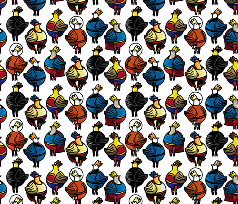 Famous Chicks fabric by ravenous on Spoonflower - custom fabric