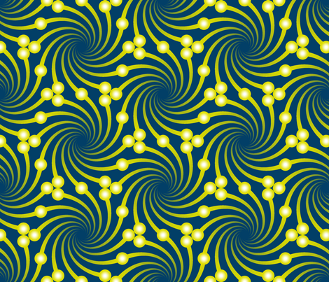 firefly swirls fabric by sef on Spoonflower - custom fabric