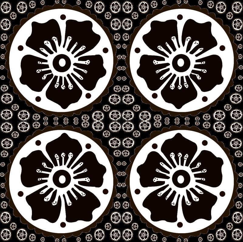 Flower Pattern Png Henna Flower Pattern 3 bw 2