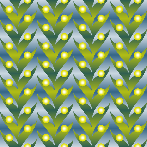 firefly foliage light fabric by sef on Spoonflower - custom fabric