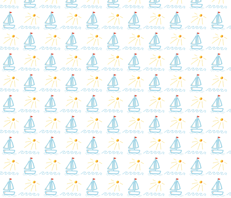on the waves fabric by sten on Spoonflower - custom fabric