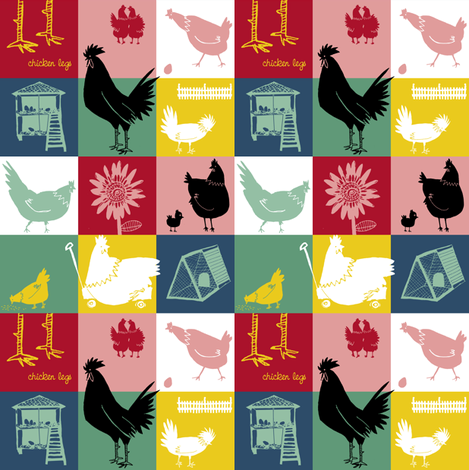 Chicken legs fabric by laura_the_drawer on Spoonflower - custom fabric