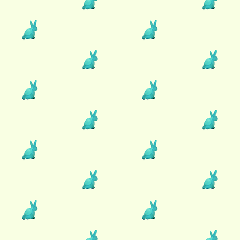 cestlaviv_Jade (baby bunny) fabric by cest_la_viv on Spoonflower - custom fabric