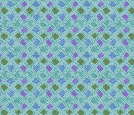 Woodland trellis fabric by vinpauld on Spoonflower - custom fabric