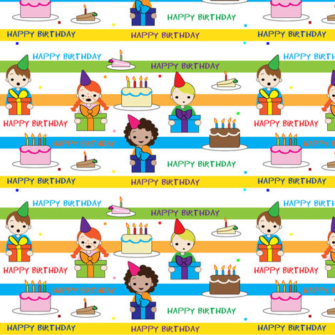 birthday fabric by kiwicuties on Spoonflower - custom fabric