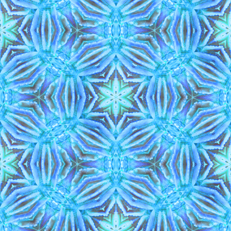 Blue Coral Kaleidoscope fabric by alainasdesigns on Spoonflower - custom fabric