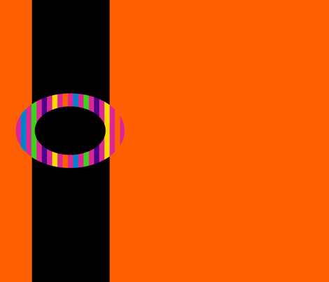 Orange Cinched by Black, Buckled by a Rainbow