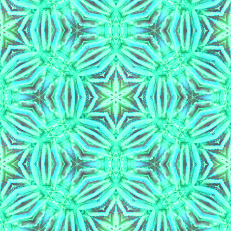 Green Coral Kaliedoscope fabric by alainasdesigns on Spoonflower - custom fabric
