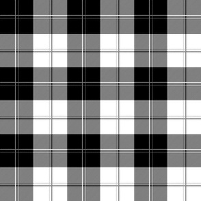 Ramsay Tartan in Black and White