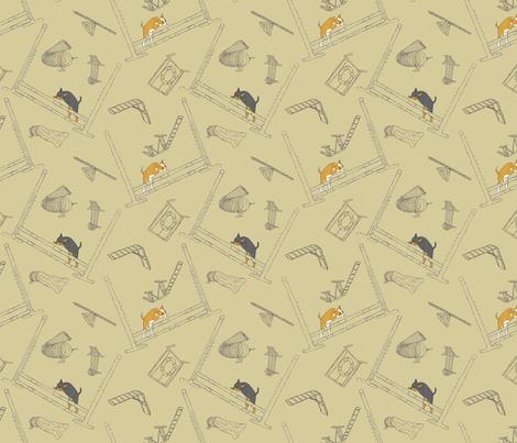 Agility Chihuahuas - khaki fabric by rusticcorgi on Spoonflower - custom fabric