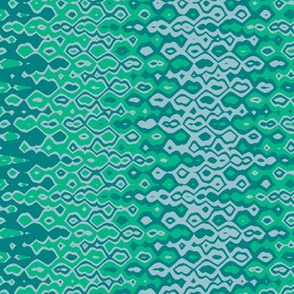 bubble blue emerald print