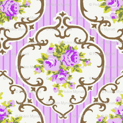 Fresh Grape stripe Cameo Roses