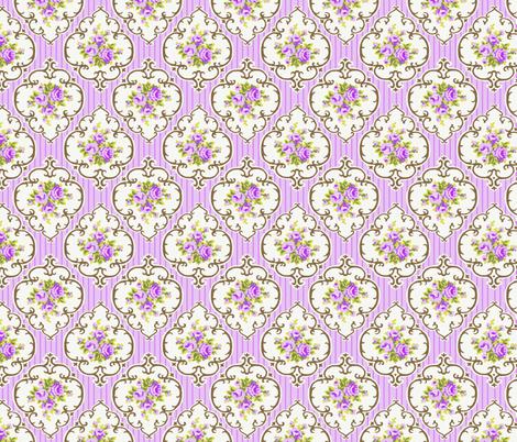 Grape Fresh Cameo Roses fabric by parisbebe on Spoonflower - custom fabric