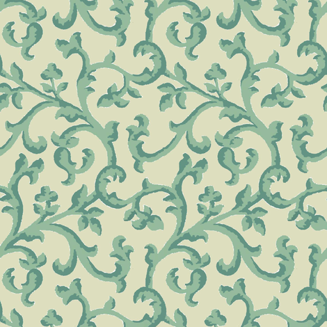 Aqua_Spice_Scroll fabric by kelly_a on Spoonflower - custom fabric