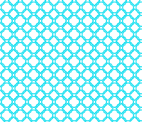 Trellis Cottage Blue fabric by lulabelle on Spoonflower - custom fabric