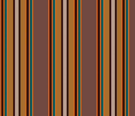 Brown pallete stripes fabric by clemency_brown on Spoonflower - custom fabric