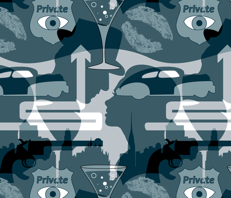 Noir Nights fabric by halfaringcircus on Spoonflower - custom fabric