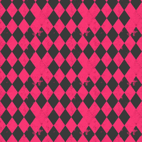 Hot Pink & Grey Harlequin Diamond fabric by bohobear on Spoonflower - custom fabric