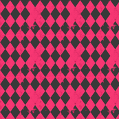 Hot Pink & Grey Harlequin Diamond