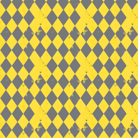 Yellow & Grey Harlequin Diamond fabric by bohobear on Spoonflower - custom fabric