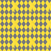Yellow &amp; Grey Harlequin Diamond