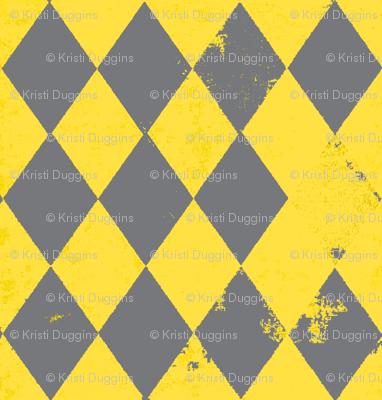 Yellow & Grey Harlequin Diamond