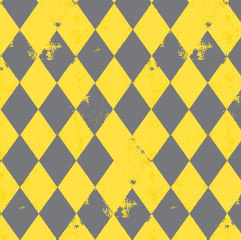 Yellow & Grey Harlequin Diamond fabric by bohobear on Spoonflower - custom fabric
