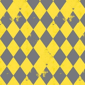 Yellow & Grey Harlequin Diamond