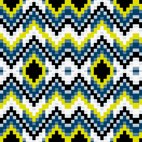 Firefly Bargello synergy0001 fabric by eclectic_house on Spoonflower - custom fabric
