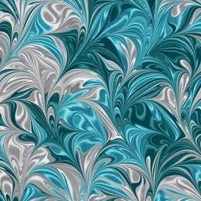 Metallic-SilverAquaTeal-Swirl