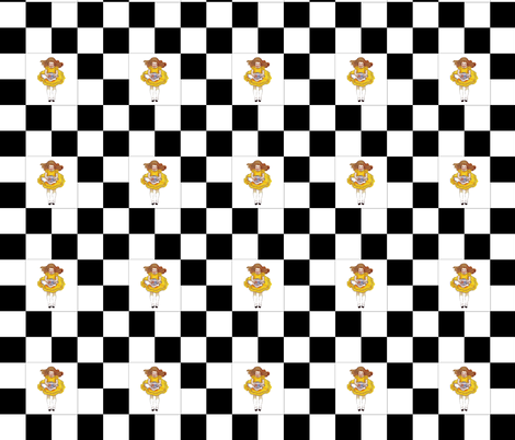 Alice in Wonderland Chess fabric by karenharveycox on Spoonflower - custom fabric