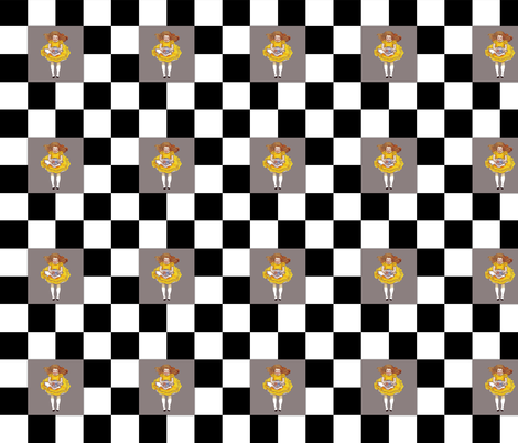 Alice Chessboard fabric by karenharveycox on Spoonflower - custom fabric