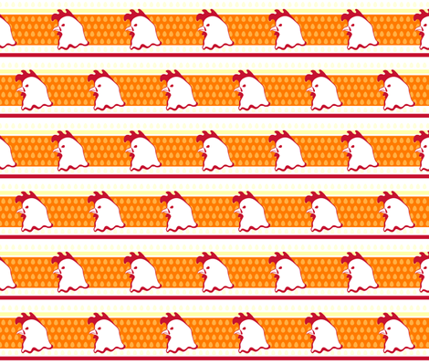 Chicken Stripe fabric by crowlands on Spoonflower - custom fabric
