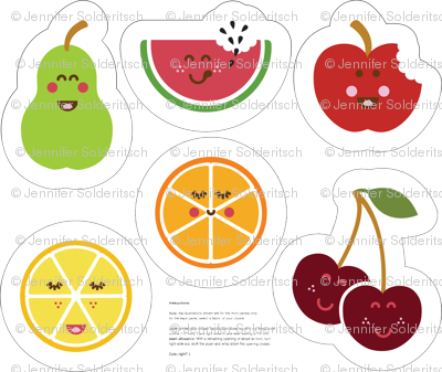 Fruit Bowl Plush set