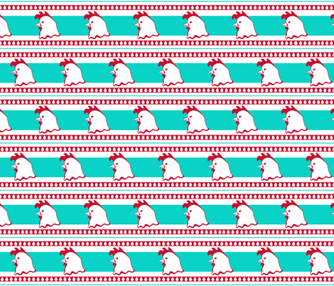 Pop Art Chicken fabric by crowlands on Spoonflower - custom fabric