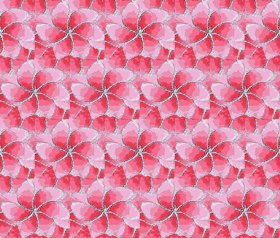 Petunia pink flower 01 fabric by dk_designs on Spoonflower - custom fabric