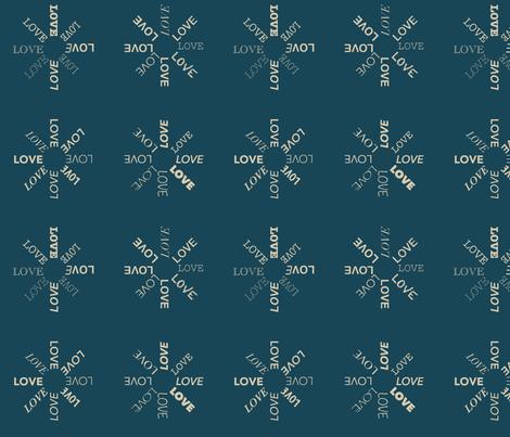 Circular love fabric by mezzime on Spoonflower - custom fabric