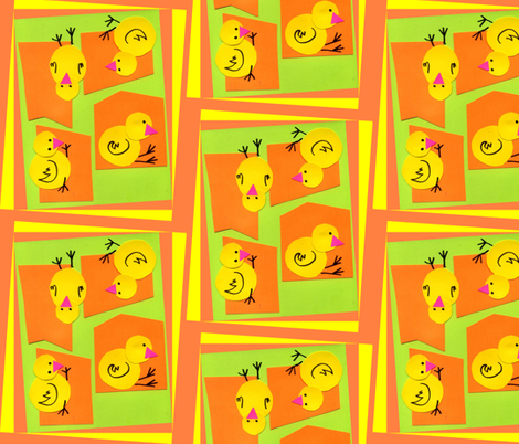 Little Pop Peep fabric by edsel2084 on Spoonflower - custom fabric
