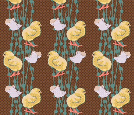 Lichtenstein Chicks fabric by lauradejong on Spoonflower - custom fabric