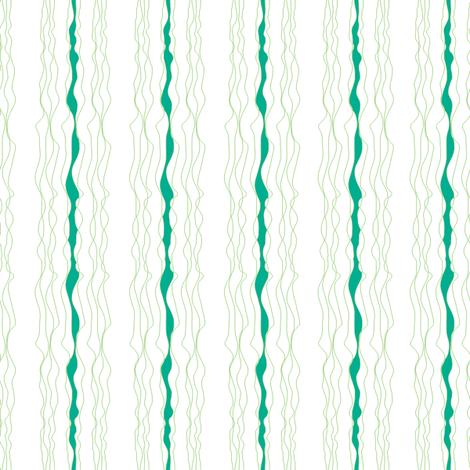 Emerald Ribbons fabric by sandeehjorth on Spoonflower - custom fabric