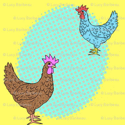 Pop art in the chickens