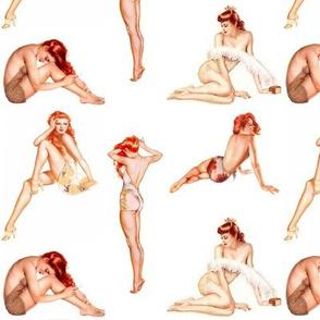 Redhead Pin-up