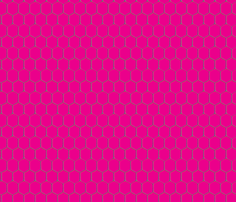 Wired, Magenta fabric by hootenannit on Spoonflower - custom fabric