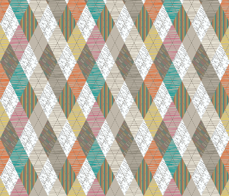 Geek Argyle fabric by meg56003 on Spoonflower - custom fabric