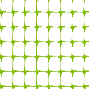 Ikat Green Criss Cross