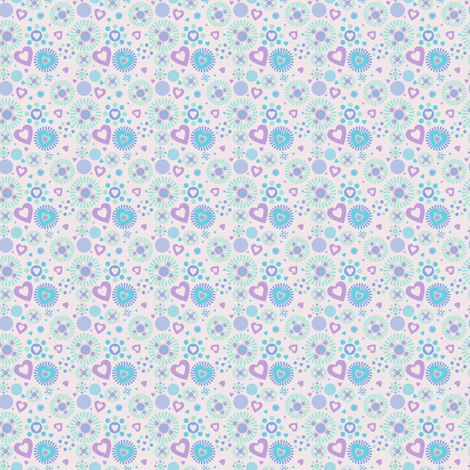 Love Explosion! - Desert Night - Desert Night Hex- © PinkSodaPop 4ComputerHeaven.com fabric by pinksodapop on Spoonflower - custom fabric