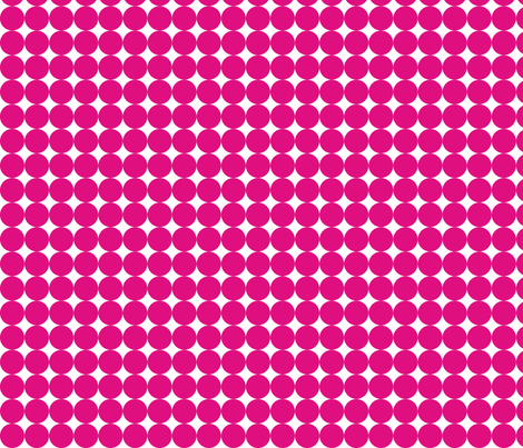 Dottie Hot Pink fabric by honey&fitz on Spoonflower - custom fabric