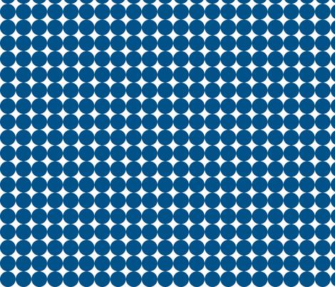Dottie Navy fabric by honey&fitz on Spoonflower - custom fabric