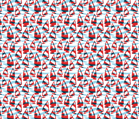 Little boats fabric by fionahogarth on Spoonflower - custom fabric