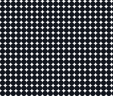 Dottie Ebony fabric by honey&fitz on Spoonflower - custom fabric